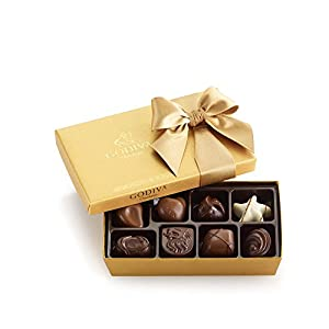 GODIVA Chocolatier Classic Gold Ballotin Chocolate Candy, Great for Gifting, 8 Count Gift Box