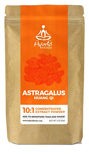 Herbs Astragalus Root Powder (Astragalus Root 10:1 Concentrated Extract Powder - 2oz (56g) - Hybrid Herbs - Add To Smoothies, Teas, Coffee, Food.)
