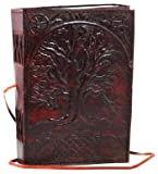 Arts & Crafts : Sacred Oak Tree Leather Blank Book