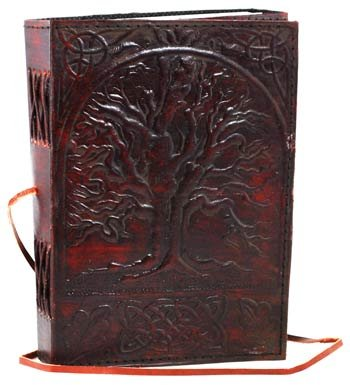 Price comparison product image Sacred Oak Tree Leather Blank Book