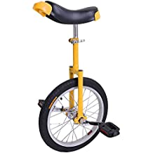 "AW 16"" Inch Wheel Unicycle Leakproof Butyl Tire Wheel Cycling Outdoor Sports Fitness Exercise Health Yellow"