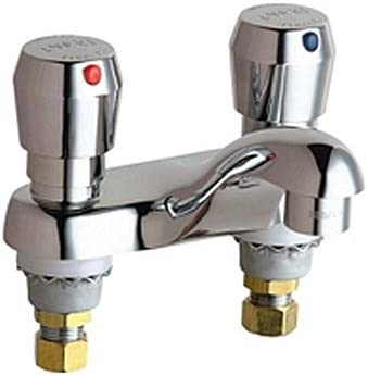 Chicago Faucets 802-V665ABCP 4-Inch Centerset Lavatory Metering Faucet, Chrome