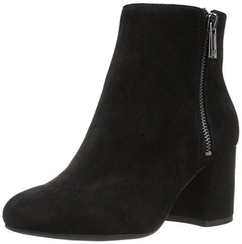 Jessica Simpson WoMen Rallee Ankle Boot, Beige, Medium Black Suede