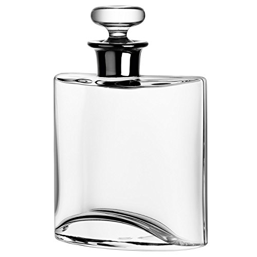 LSA International Flask Decanter Platinum Neck, 27 fl. oz., Clear by LSA International