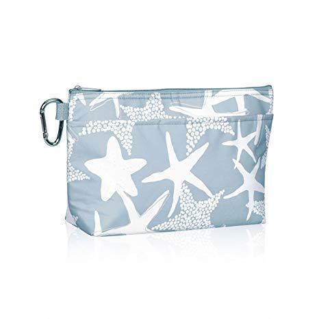 Thirty One Cool Clip Thermal Pouch in Starfish Splash - No Monogram - 8256 (Thirty One Large Utility Tote Starfish Splash)