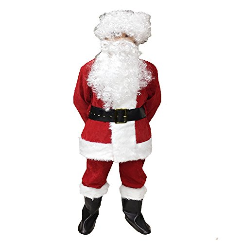 [ZNFQC Men Christmas Santa Claus Costume Outfits Plus Size S-2XL (2XL)] (Plus Size Simply Santa Costumes)