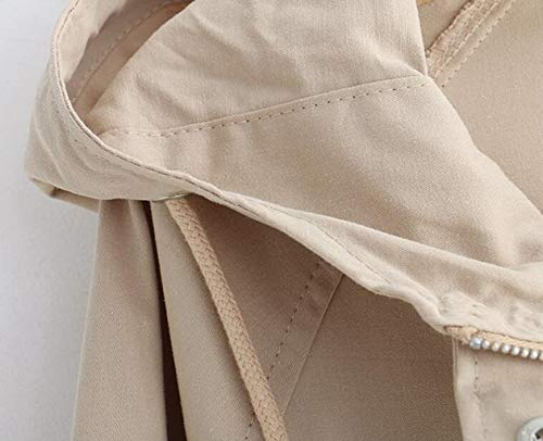 Court Mince Jaune À Le Étudiant Éclair L Jbhurf Coupe Taille Veste vent Femelle Lâche Unie Couleur Nouvelle Fermeture Poche couleur Capuche Blanc q7BgO