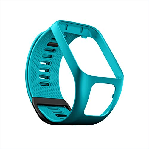 Watch Replacement Silicone Band Strap Compitable with for Tomtom Adventurer/Runner 2 3 / Spark 3 (Blue) (Best Cyber Monday Deals On Fitness Trackers)
