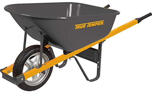 The Ames Companies, Inc R6STSP25 True Temper Never Flat Tire Steel Wheelbarrow, 6 Cubic Foot by The AMES Companies, Inc