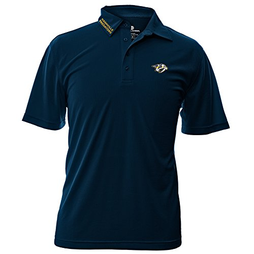 Levelwear NHL Nashville Predators Adult Men Surface Wordmark Polo Shirt,Small,Navy for $<!--$44.20-->