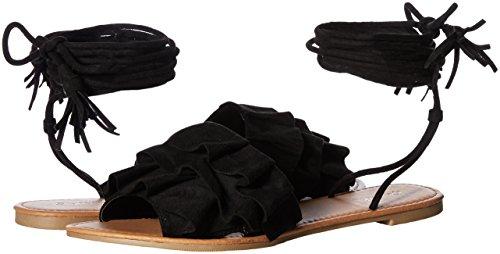 Lazada Sandalia Superior Mujer Plana Sandalia Qupid Negro Uq5gU