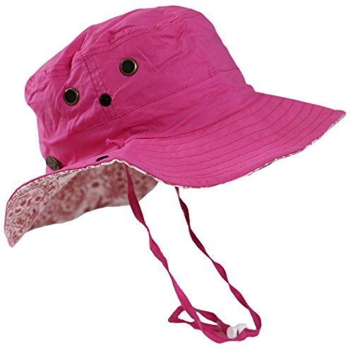Turtle Fur Women's Bonnie, Reversible Lightweight Boonie Sun Hat, Pink