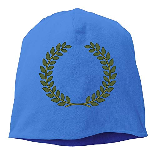 Textured Laurel Wreath Beanies Caps Skull Hats Unisex Soft Cotton Warm Hedging Cap,One Size Royal Blue