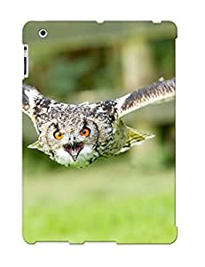 Defender Case With Nice Appearance (owls Wings Flight Fly Face Eyes ) For Ipad 2/3/4 / Gift For New Year's Day