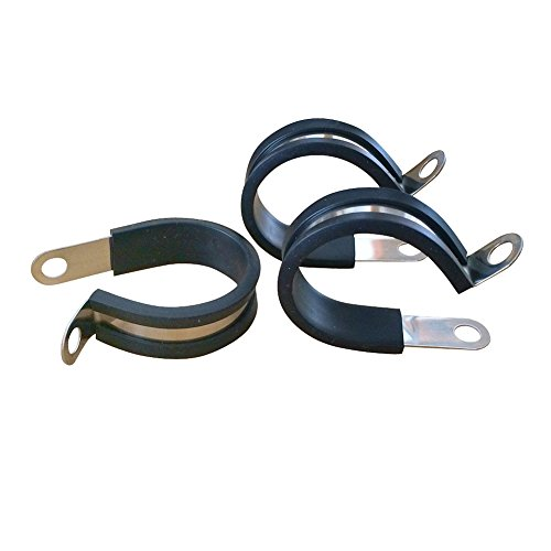 10-Pack-Rubber-Cushioned-Insulated-ClampStainless-Steel-Cable-ClampMetal-ClampPipeWire-Cord-Installation-Clamp