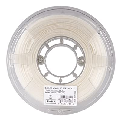 eSUN 1.75mm eLastic 85A TPE 3D Printer Filament 0.5KG Spool (1.1lbs), Natural White