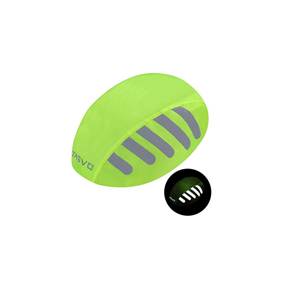 TAGVO Bike Helmet Cover with Reflective Stripe, High Visibility Waterproof Cycling Bicycle Helmet Rain Cover Bright Color,Universal Size