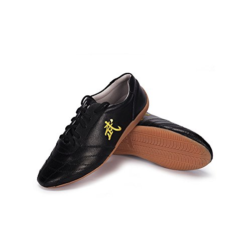 Men Adults Chinese Tai-Chi Wu Shu Kung Fu Shoes Basic Style for Daily Training Morning Exercises Shoes (Black, US 10=45)