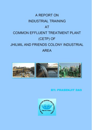 A Report on Industrial Training at Common Effluent Treatment Plant of Jhilmil and Friends Colony Industrial Area