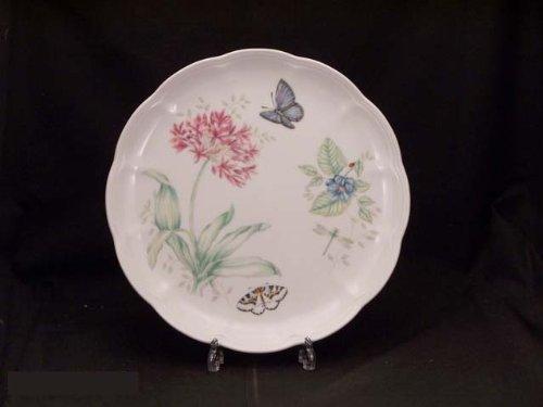 (Lenox Butterfly Meadow Bone Porcelain Blue Butterfly Dinner Plate )
