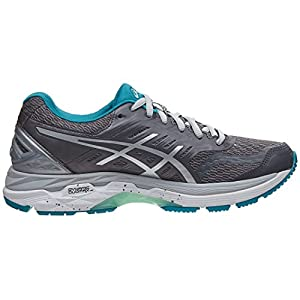 ASICS Women's GT-2000 5 Running-Shoes, Carbon/Silver/Arctic Aqua, 7 Medium US