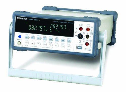 GW Instek GDM-8251A 120000 Counts VFD Dual Display Digital Bench Top Multimeter, 100mV/1V/10V/100V/750V AC Voltage Range
