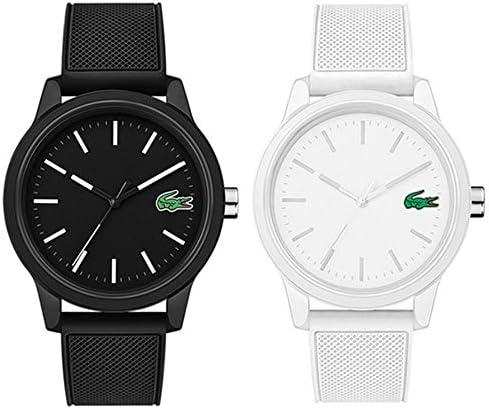 [ラコステ]LACOSTE ペアウォッチ メンズ レディース 大人 カジュアルウォッチ ペアBOX付 ブラック ホワイト 白黒 シリコン 20109862010984 腕時計 [並行輸入品]