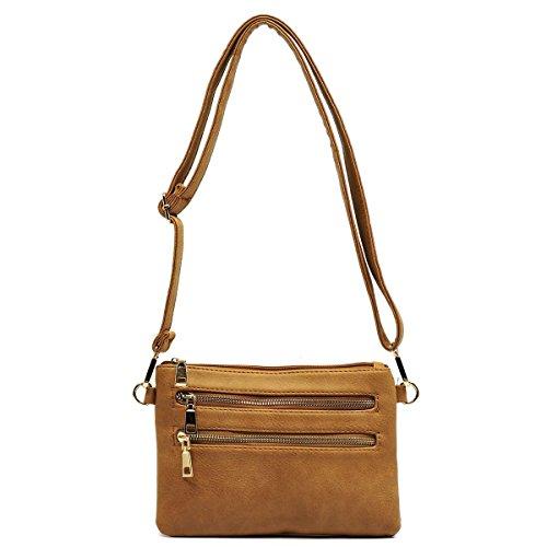 Hipster Bag Clutch Body Elphis Cross Bag 102 Shoulder tan Fashion Bag Zipper TxqpxAX