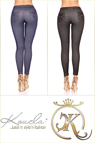 Angies da Glamour Fashion Blue donna Leggings ZqH4vpZrw