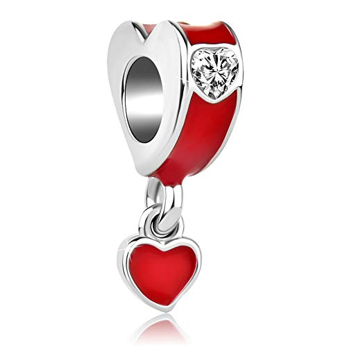 Authentic pandora charms red