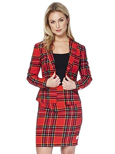 b0f98b87f18204 OppoSuits Christmas Suits for Women in Different Prints - Ugly Xmas Sweater  Costumes Include Blazer and