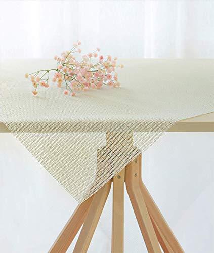 Xrrxy Anti Slip PVC Tablecloth Underlay Adjustable in Size Foam mat Tea Table Cloth Non-Slip Table mat,White (200 140cm/79 55inch)