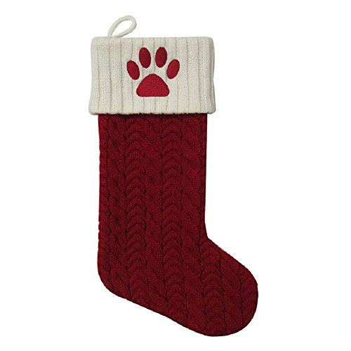 Animal Christmas Stocking - Paw Print