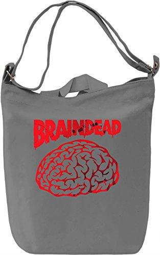 Braindead Borsa Giornaliera Canvas Canvas Day Bag| 100% Premium Cotton Canvas| DTG Printing|