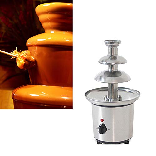 Wotefusi Chocolate Fountains 3-Tier Tower Chocolate Fondue Tower Stainless Steel 110V by Wotefusi (Image #2)