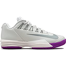 Nike Womens Lunar Ballistec 1.5 Tennis Shoe Silver/Purple (Size 5) 705291-001