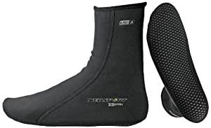 NeoSport Wetsuits XSPAN 1.5mm Sock, Black, X-Small - Diving, Snorkeling & Wakeboarding