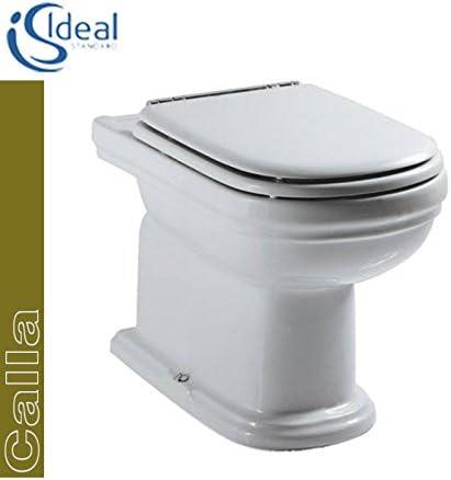 Sedile Wc Ideal Standard Serie Calla.Ideal Standard Calla T3028 Wc Pavimento Scarico A Pavimento Con Sedile Amazon It Casa E Cucina