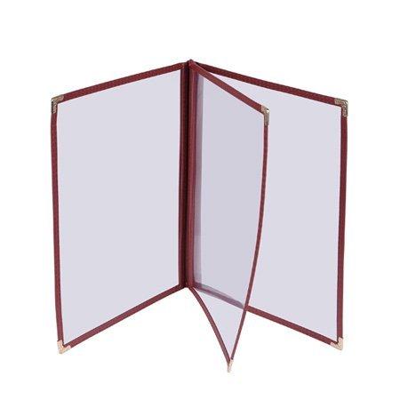 LEESONS 30pcs Menu Cover 8.5x11 Triple Fold 6 view double stitch Restaurant Cafe