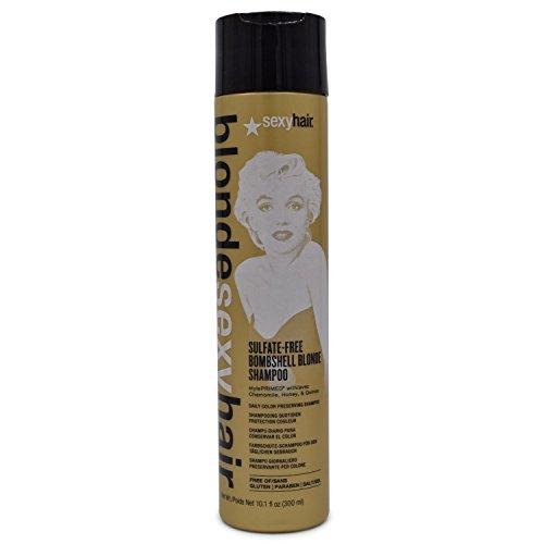 Hair Bombshell Blonde (Sexy Blonde Sexy Hair Sulfate-Free Bombshell Blonde Shampoo 10.1 fl Oz)