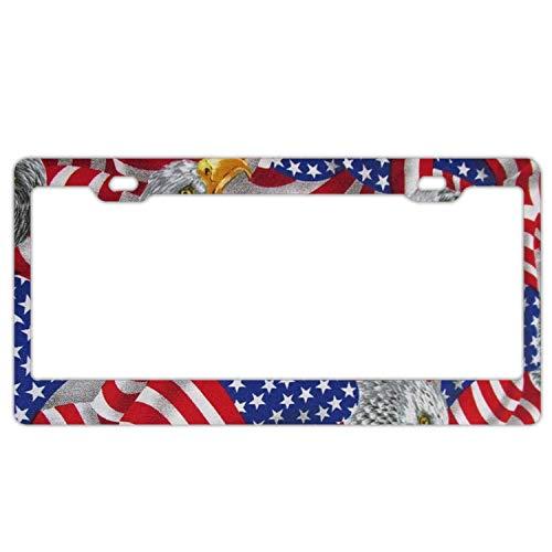 Metal Patriotic (American Patriotic,Metal License Plate for Car, Metal Car License Plate,Plate Frame Tag Holder)