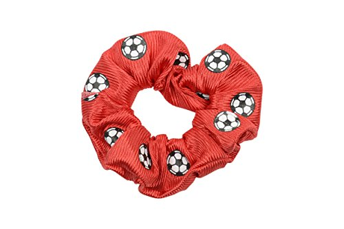 "Price comparison product image EMC Sports ""Soccer"" Dazzle Hair Scrunch, Red, One Size fits All"