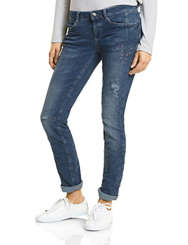 Slim Blu One 11309 Blue Street Donna Decorated Wash fancy Jeans wE6xBqSI