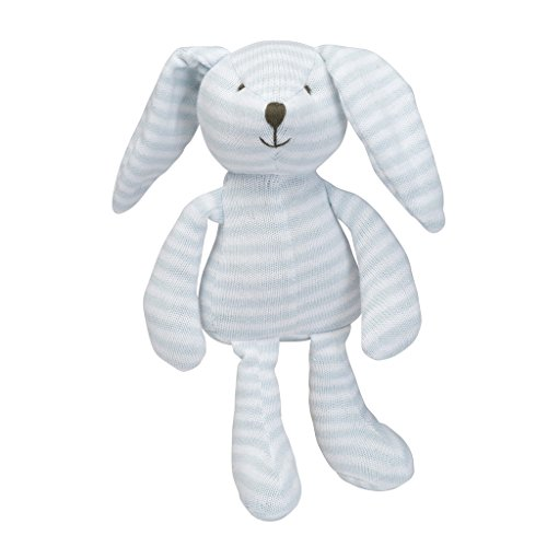 Elegant Baby Plush Pastel Toy, Bunny/Blue Stripe