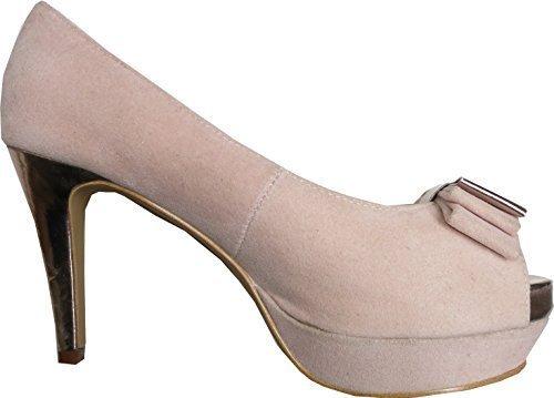 CHILLANY Peeptoe - Zapatos de vestir para mujer rosa - Rose