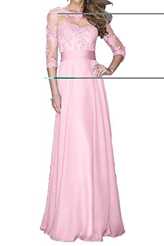 Rock Langarm Braut Weiss La Abschlussballkleider Spitze Marie Abendkleider Rosa Partykleider 4 3 Chiffon 1wxUq