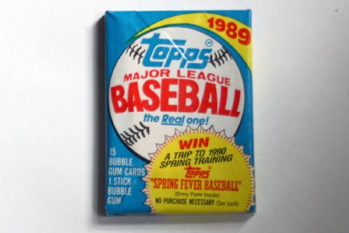 Topps Baseball Cello - 1989 Topps Baseball Cello Pack (1/15 Card Pack)