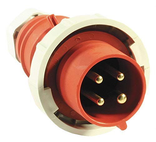 Wiring Watertight Pin (Hubbell Wiring Device-KELLEMS 100 Amp, 3-Phase Nylon Watertight Pin and Sleeve Plug, Red)