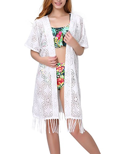 Aboutwome-Women-Beach-Cover-Up-Swimsuit-Floral-Cardigan-Beachwear-Oversized-Bathing-Suit-Swimwear