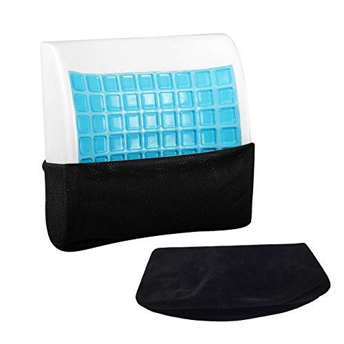 LoveHome Cool Gel Lumbar Support Back Cushion Memory Foam With 3D Mesh